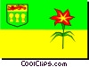 Flag of Saskatchewan Vector Clip Art picture