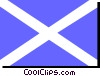 Vector Clip Art graphic  of a Scotland St. Andrew Cross flag