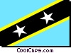 St. Kits - Nevis flag Vector Clip Art graphic