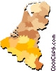 Vector Clip Art graphic  of a Belgium Netherlands and