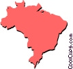 Vector Clipart illustration  of a Brazil
