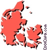 Vector Clipart graphic  of a Denmark