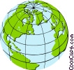 Vector Clip Art graphic  of a World globe
