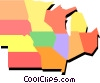 Midwest United States Vector Clip Art picture