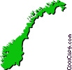 Vector Clip Art picture  of a Norway