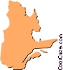 Vector Clipart picture  of a Quebec