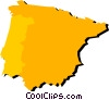 Vector Clip Art graphic  of a Spain