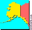 Vector Clipart graphic  of an Alaska