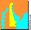 Vector Clip Art graphic  of a Delaware