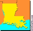 Vector Clip Art image  of a Louisiana