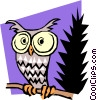 Cartoon Owl Vector Clipart illustration
