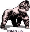 Vector Clip Art graphic  of a Gorilla