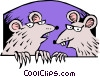 Rats Vector Clipart illustration