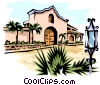 Mexican House Vector Clipart illustration