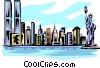 Vector Clipart graphic  of a New York skyline