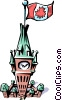 Peace Tower Vector Clipart graphic