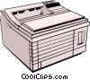 Vector Clip Art image  of a Printer