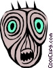 Vector Clip Art picture  of an Alien