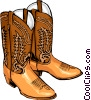 Vector Clipart illustration  of a Cowboy boots