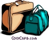 Vector Clip Art graphic  of a Suitcases