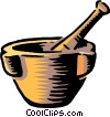 Vector Clipart graphic  of a Pestle & mortar