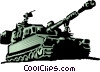 Vector Clipart picture  of a Military tank