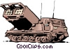 Missile launcher Vector Clipart graphic