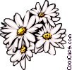 Vector Clipart graphic  of a Daisies