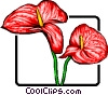 Vector Clip Art graphic  of a Red flower