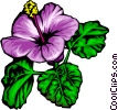 Purple flowers Vector Clipart illustration