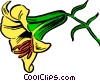 Vector Clip Art picture  of a Lily
