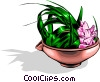 Japanese floral arrangement Vector Clipart picture