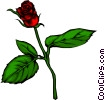 Vector Clipart image  of a Red rose