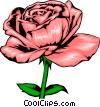Pink Rose Vector Clipart picture