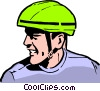 Vector Clip Art graphic  of a Bicycle safety