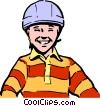 Vector Clip Art image  of a Child's safety helmet