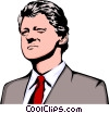 Vector Clipart graphic  of a Bill Clinton