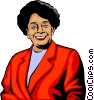Vector Clip Art image  of an Afro-American women
