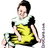 Really ugly baby Vector Clip Art image
