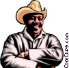 Vector Clip Art image  of an Afro-American Farmer