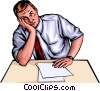 Vector Clip Art graphic  of a Frustrated man