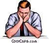 Vector Clipart picture  of a Tired man
