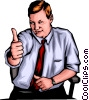 Man with thumbs up Vector Clipart illustration