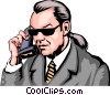 Vector Clipart graphic  of a Man on phone