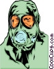 Vector Clipart graphic  of a Gas mask