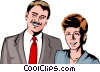 Vector Clipart graphic  of a Man & woman