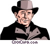 Western man Vector Clip Art picture
