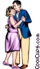Man & woman dancing Vector Clipart picture