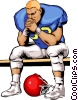 Football player Vector Clip Art picture