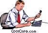 Vector Clipart graphic  of a Man with phone